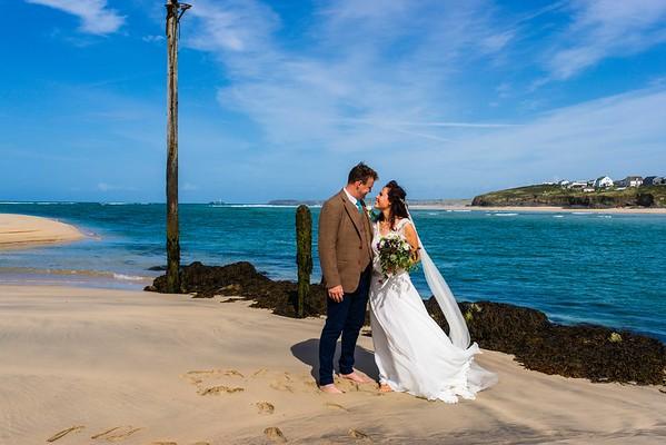 Lucie and Josh Lelant Beach September