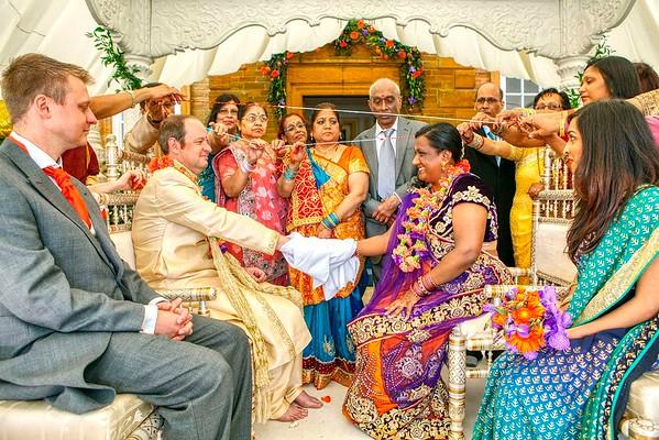 hindu bride getting married to her english groom