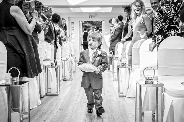 page boy walking down the aisle