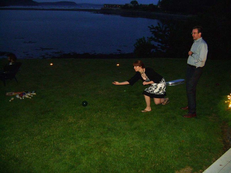 Erica Playing Bocce Ball