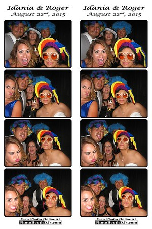 08/22/2015 Idania & Roger Wedding (PhotoStrips)