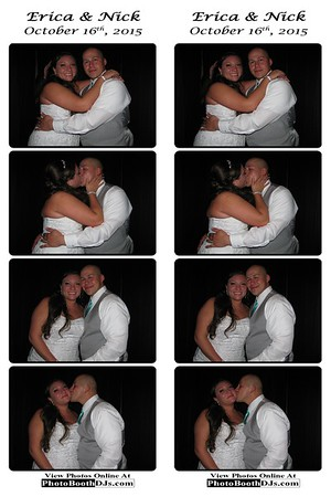 10/16/2015 Erica & Nick Wedding (PhotoStrips)