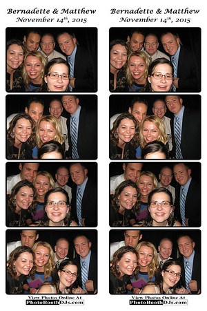 11/14/2015 Bernadette & Matthew Wedding (PhotoStrips)