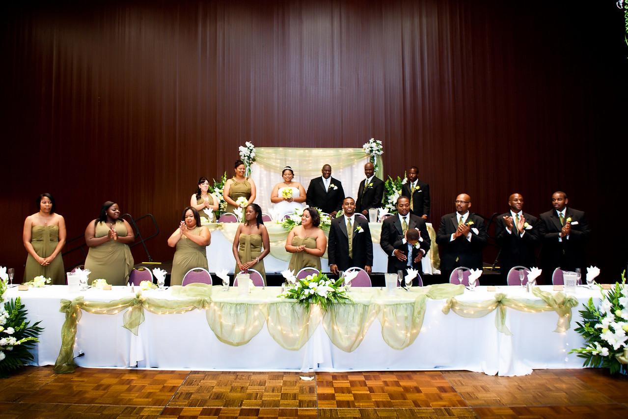 Wedding reception at the Carson center.