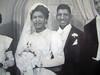 19491008 Quarles-Hall Wedding Portrait : 1949-10-8 Cecil Hall and Catherine Quarles Wedding