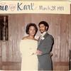 19810328 Parker-Hall Wedding : 1981-3-28 Valerie and Karl