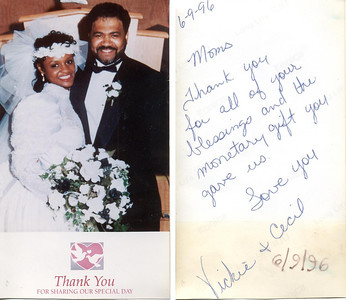 1996-6-9 Cecil and Vicky -Thank You-