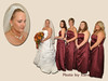 Bride and bridesmaids collage