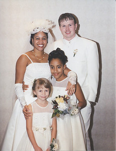 Bride and Groom and Flower Girls Stonewall-Halle Wedding