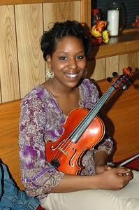 Violinist Candace Jackson