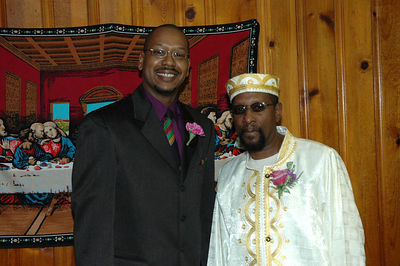 Brother of the bride, Gregory Jackson and groom Dennis McGaugh.