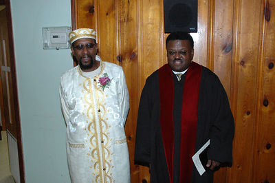 Nervous groom Dennis McGaugh and Elder Tyrone Sherrod