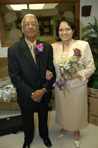 Friends of bride & groom, Mr. & Mrs. Adaniel Johnson.