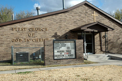 First Church of God in Christ,  Pastor Elder Tyrone Sherrod.  1418 N. Piatt, Wichita Ks. 67214