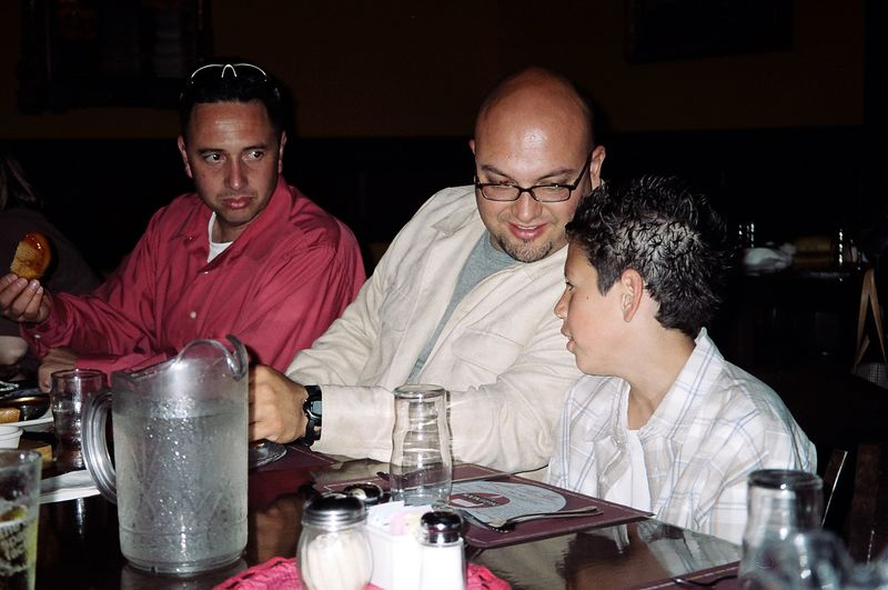 The rumor is Little Rey was talking smack to Alex.  Cesar and Manny were taking notes.