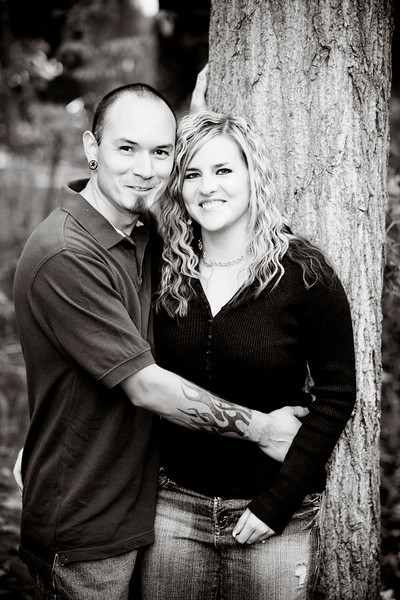 Julie and Zach Engagements 003 bw