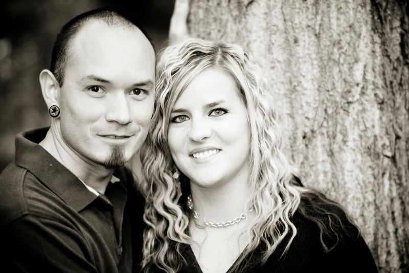 Julie and Zach Engagements 004 bw secret