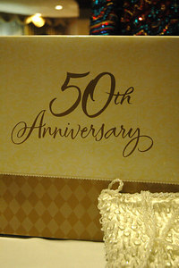 Over 300 guest gather at Holiday Inn Select to help Frank & Willa Crawford celerbrate their 50th Wedding Anniversary.