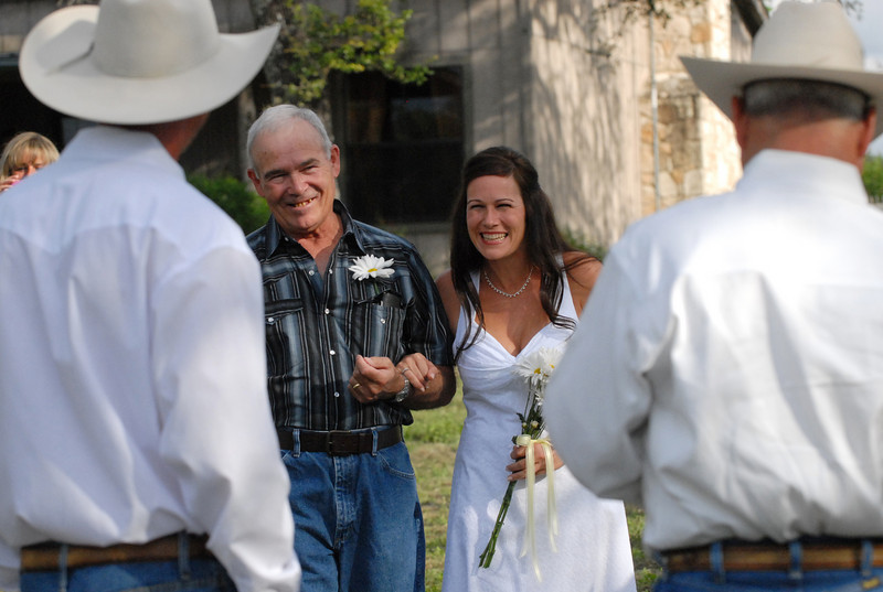 Justin and Jennifer Brantley are married at the Running R Ranch in Bandera, TX on September 25, 2010.