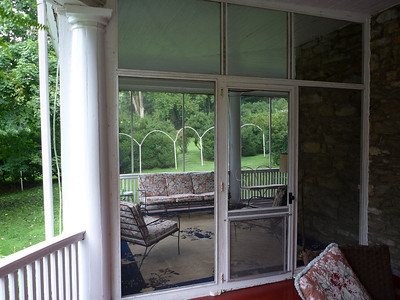 screened porch of Mansion House