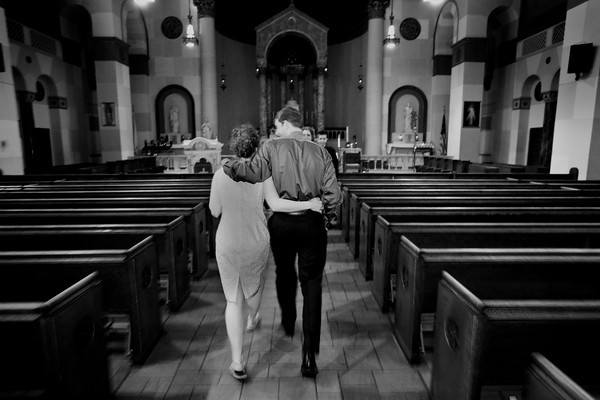 The marrage of Jacqueline Cline and Peter Giles at the Holy Name Catholic Church in Clintonville, Semi-Formal photos taken at the Olentangy Village Apartments, and reception at St. Agatha's Catholic Church in Upper Arlington Saturday afternoon May 1, 2010. (Photo by James D. DeCamp / 614-462-8027)