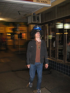 Late in the Evening the G-man wears magical protective head gear, which give him the power to consume more alcohol than any mere mortal