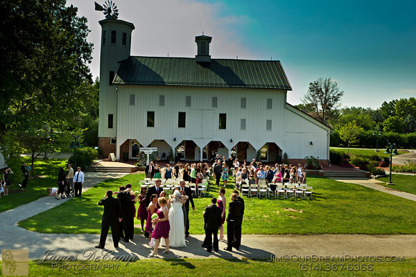 The wedding and reception of Amanda Plunkett and Stephen Burkey held Saturday August 27, 2011 at the Everal Barn and Homestead in Westerville, Ohio.. (© James D. DeCamp • http://OurDreamPhotos.com • 614-462-8027)