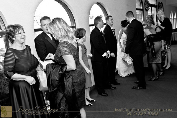 The wedding reception of Karen Simmons and Tyler Alexander held at the Greek Orthodox Cathedral in Columbus, Ohio Saturday October 22, 2011. (© James D. DeCamp   http://OurDreamPhotos.com   614-367-6366)