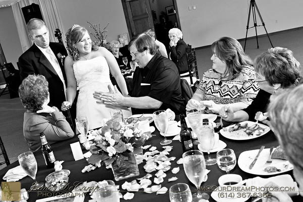 The wedding and reception of Thomas Stokes and Cindi Coldren held Friday afternoon/evening November 11, 2011 at the Brookshire Event Center in Delaware, Ohio . (©James DeCamp | http://OurDreamPhotos.com | 614-367-6366)