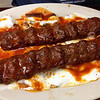 donner kebab with yoghurt at Istanbul Grill in Bethlehem, PA