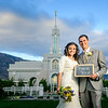 Thank you pictures taken during the First look pictures at the Timpanogos Temple