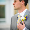 Groom waits for the bride. First look pictures at the Timpanogos Temple