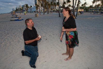 Chris and Heather Hollywood Beach Proposal