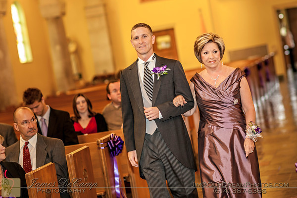 The wedding and reception of Sarah Clouse and Ryan Stowe held Saturday October 20, 2012.  Ceremony held at the St. Michael's Catholic Church with the Reception held at the Jessing Center of the Pontifical Josephinum. (© James D. DeCamp | http://OurDreamPhotos.com | 614-367-6366)