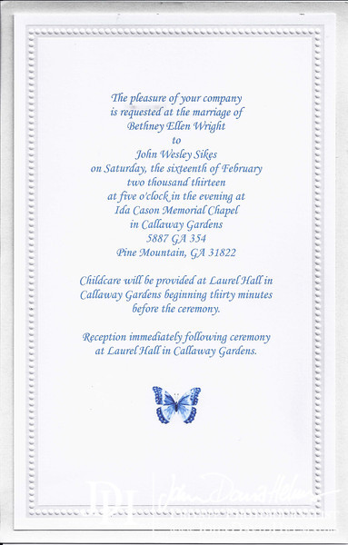 Sikes Wedding Invitation
