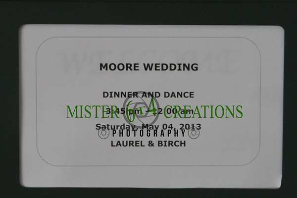 Moore Wedding - May 4, 2013