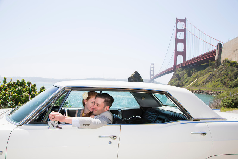 The Day after Jessica and Brendan's wedding at San Francisco Theological Seminary on April 12, 2014. (Photo by/Sharon Ellman)