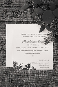 Madeleine and Peter Wedding Norrviken Båstad 19 November 2016