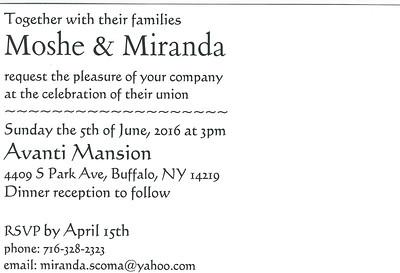 Moshe & Miranda Invitation Back
