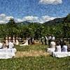 April and Devon Wedding Ceremony Paint