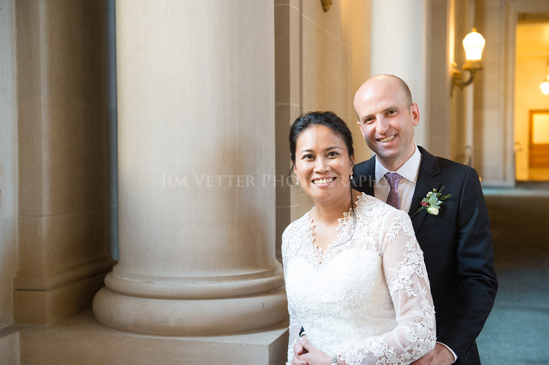 Wedding of Dulce & Cedric at SF City Hall