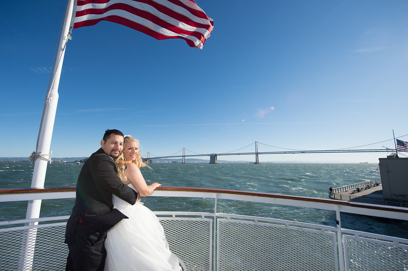Wedding of Emiley & Joey aboard the California Hornblower on San Francisco Bay