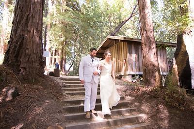 Monique & Joe at the Sequoia Retreat Center in Ben Lomond California