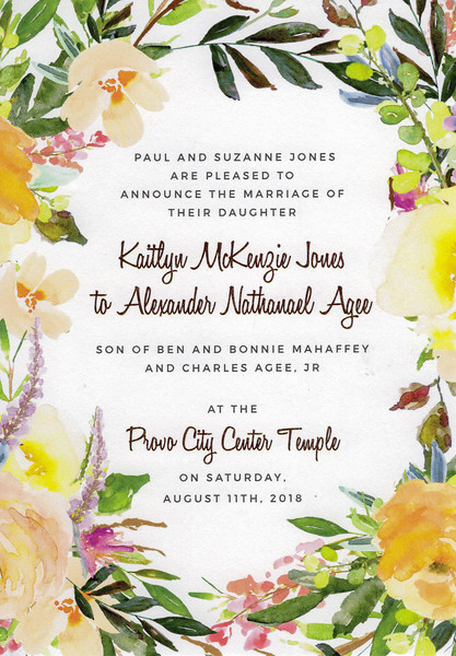 2018-08-18 Alex Agee - Kaitlyn Jones Wedding Reception in St George_0001 - Announcement