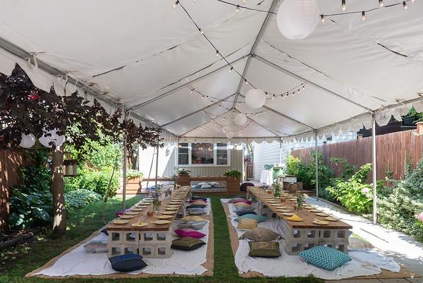 Bohemian Boho Chic Style Private Home Estate Backyard Event - Christopher Luk Toronto Wedding Photographer