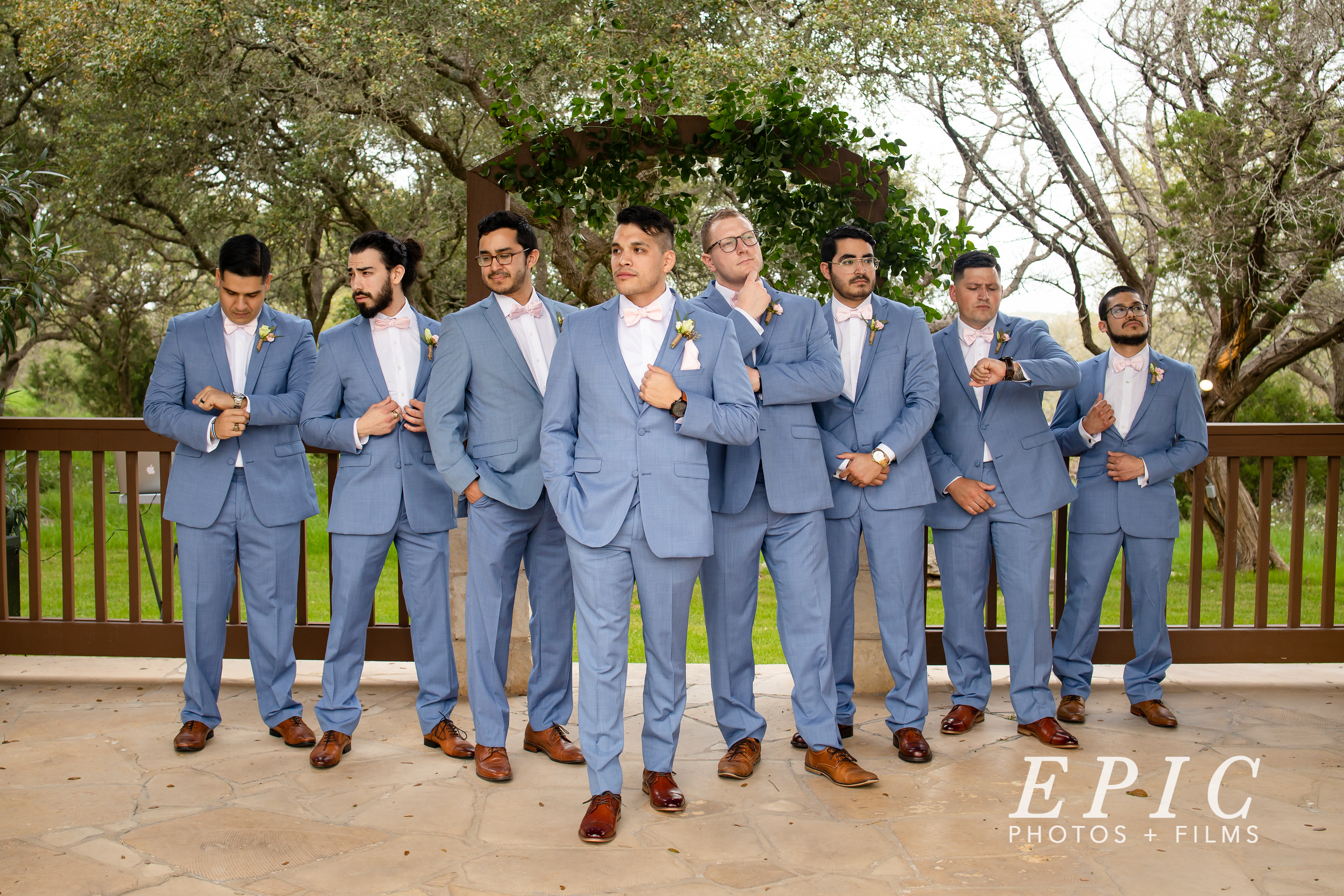 Groomsmen group shot