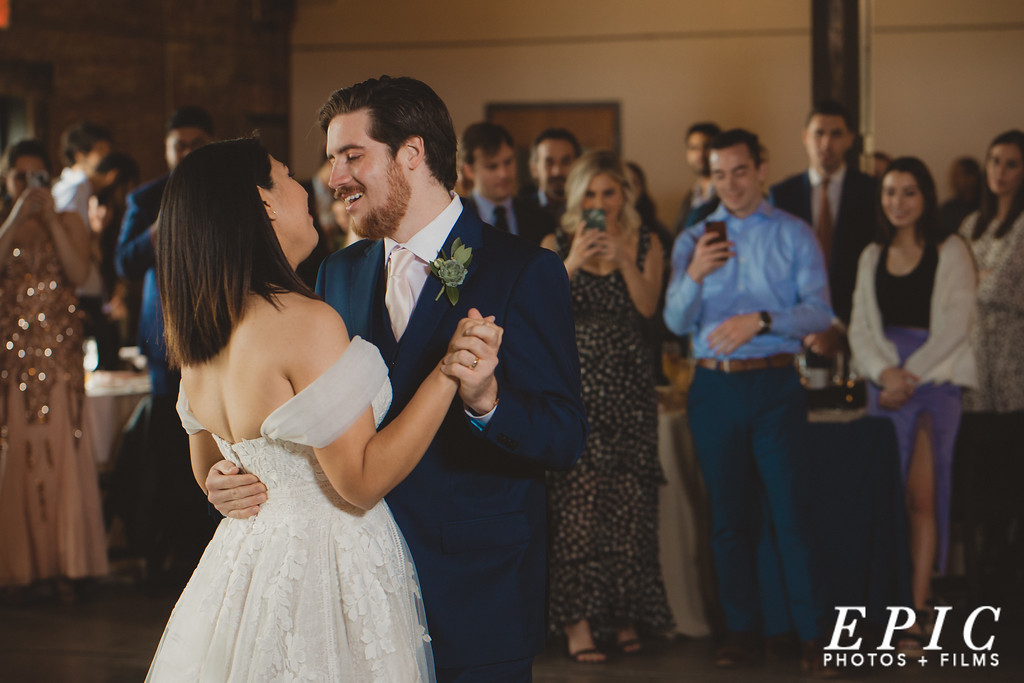First dance at wedding near Dallas Texas