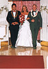 Got her 2 dads to walk her down the aisle.. What a lucky girl..