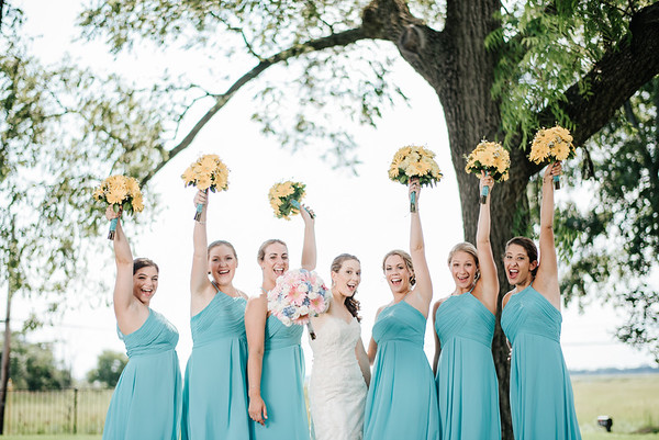 6. Bridal party portraits