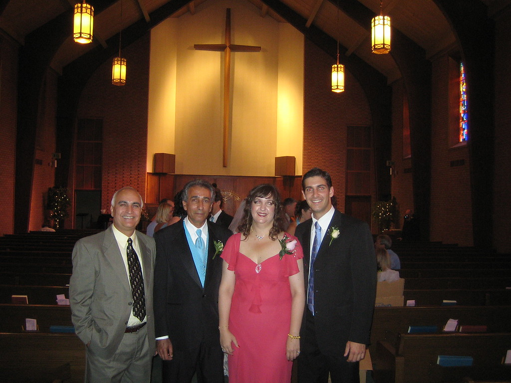 Asghar, Louise, Aaron and on the far left Mohammed, a family friend for longer than I have been alive.